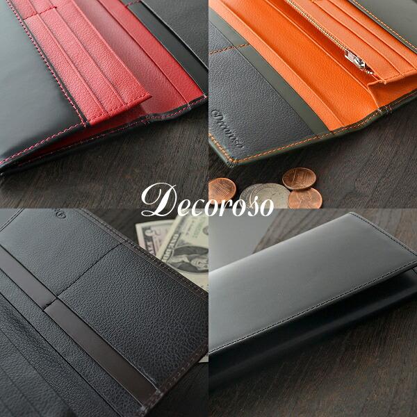 長財布 メンズ 馬革 牛革 ロングウォレット Decoroso (4色) 【CL-1201】イメージ写真3