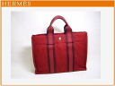 HERMES fool toe PM red cotton