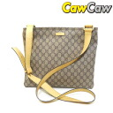 201446 GUCCI gucci GG positive diagonal credit shoulder bag beige