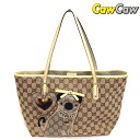 212374 gucci グッチョリ GG canvas tote bag pugs