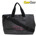 162785 gucci 2WAY logo shoulder tote bag PVG black GUCCI