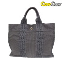 HERMES Hermes airline Tote PM canvas grey used