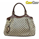 GUCCI Gucci sukey 211944 Diamante tote bag ivory Navy