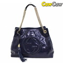 GUCCI Gucci 308982 a7m0g SOHO patent leather W chain shoulder bag Navy used