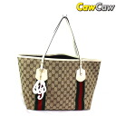 GUCCI Gucci 211970 GG canvas tote bag with charms