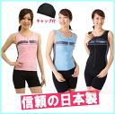 ルモード 5P13oct13_b for front zipper 69 lady's women made in swimsuit Lady's swimsuit fitness swimsuit sports swimsuit separate swimsuit Japan