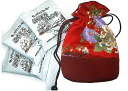 Coffee coupon and Nishijin weaving kinchaku bag set