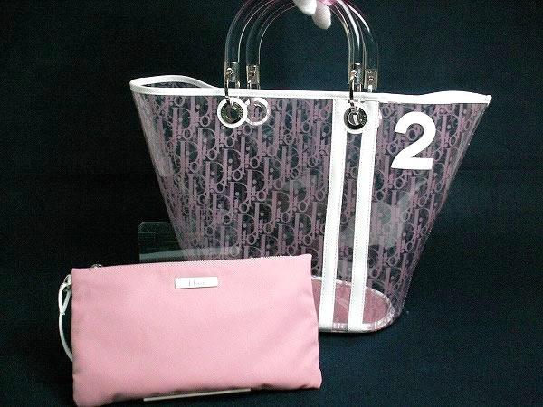 Dior クリスチャンディオール 2004年春夏コレクション ビニールトートバッグ ピンク
