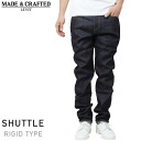 Levi's Made & Crafted shuttle weave rigid denim pants [INDIGO] Levi's made & crafted men's pants Indigo dyed jeans LVC