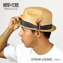NEW YORK HAT Straw Louie (New York Hat ストロールイ straw hat beige straw hat men's women's hats 2124)