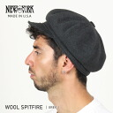 NEW YORK HAT Wool Spitfire ( the New York Hat ウールスピットファイア charcoal gray casket Made in USA #9055)