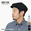 NEW YORK HAT Canvas News Boy (New York Hat canvas news boy hunting black men's women's hats Made in USA #6218)