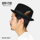 NEW YORK HAT New York Hat Rude Boy Hat [BLACK] rude boy wool hat men's hats black made in USA MADE IN USA #5241 casual 30s 40s code winter black birthday P06Dec14