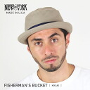 NEW YORK HAT Fisherman's Bucket (New York Hat フィッシャーマンズバ KET pork pie Hat Tan mens Womens Hat #3025)