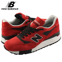 New Balance new balance M998 RO MADE IN U S A... American-made sneakers red mens