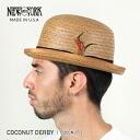 NEW YORK HAT COCONUT DERBY (hat men's women's, New York Hat Derby coconut straw hat 2136)
