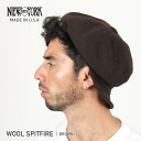 NEW YORK HAT Wool Spitfire (New York Hat ウールスピットファイア Brown casket mens Womens hats Made in USA #9055)