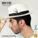 New York Hat Panama Fedora # (New York Hat パナマフェドラ straw natural Straw Hat hair mens Womens 2078)