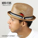 NEW YORK HAT Coconut Stingy (the hat straw hat men's women's New York Hat ココナッツスティンギー caps & straw hat #2122)