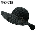 NEW YORK HAT Toyo Swinger (shade women's Black Straw Hat ladies, New York Hat straw hat of トーヨースインガー #7139)