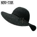 NEW YORK HAT Toyo Swinger (shade women's Black Straw Hat ladies, New York Hat straw hat of トーヨースインガー #7139)