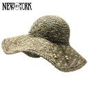 NEW YORK HAT Sea Grass Shell (shade women's straw hat straw hat ladies, New York Hat natural of seagrass shell #7105)