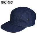 NEW YORK HAT Denim Camp Cap (New York Hat denim camp caps mens Womens Hat #6026)