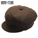 NEW YORK HAT Linen Spitfire (hat New York Hat newsboy of linen and hemp women's Brown men's #6225)