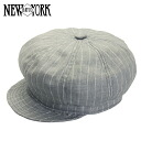 NEW YORK HAT Linen Stripe Spitfire (hat New York Hat newsboy of linen and hemp women's grey stripe men's #6273) 10P10Nov13