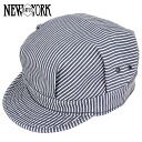 NEW YORK HAT Hickory Engineer # 6254 (New York Hat Hickory engineers work caps mens Womens Hat but)