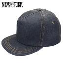 NEW YORK HAT New York Hat Denim Trucker Cap denim Cap [BLUE] blue mens Womens #6261 Cap