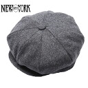 NEW YORK HAT Wool News Boy (New York Hat News boy Cap charcoal mens Womens hats Made in USA #9035)
