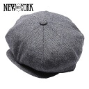 NEW YORK HAT Herringbone News Boy (New York Hat herringbone news boy hunting grey mens Womens hats Made in USA #9038) 10P10Nov13
