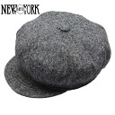 NEW YORK HAT Tweed Spitfire (the New York Hat ツイードスピットファイア gray casket Made in USA #9052)