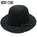 NEW YORK HAT Sea Grass Framer [BLACK] (keeping off the sun light #7117 for New York hat sea glass flamer straw hat black straw hat Lady's women)