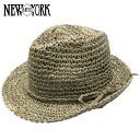 NEW YORK HAT Sea Grass Fedora (shade ladies natural straw hat mens, New York Hat straw hat of シーグラスフェドラ #7016)