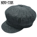 NEW YORK HAT Chambray Spitfire (New York Hat chambray cotton newsboy black mens ladies Hat #6213)
