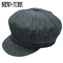 NEW YORK HAT Chambray Spitfire (New York Hat chambray cotton newsboy black mens ladies Hat #6213)