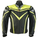 BERIK punching mesh leather jacket YELLOW LJ-10122-BK