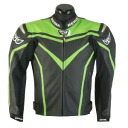 BERIK punching mesh leatherette jacket GREEN LJ-10122-BK