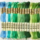 Company, DMC embroidery thread 25-yarn green-17 colors, rich color and easy to use the finest embroidery threads
