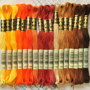 Company, DMC embroidery thread 25 thread brown-orange 17 colors, rich color and easy to use the finest embroidery threads