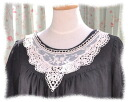 Antique otogitic so cute! tulle lace collar