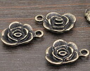 Charm roses 5 piece antique gold, antique gold