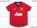 Product made in nike for the Manchester United 12/13 home youths