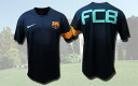 Short sleeves made by FC Barcelona 2010 pre-match training dark blue nike