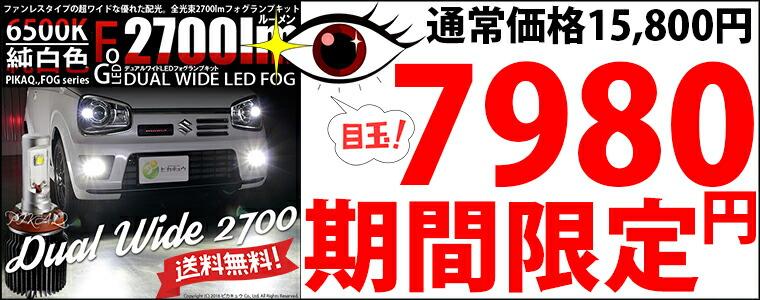 デュアルワイドフォグ7980円