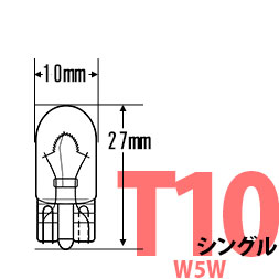T10の純正球同等サイズはコチラ