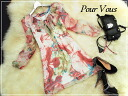 Adult chiffon floral silk dress * celebrity LA * wedding * party * party dresses 512 fall of new larger size