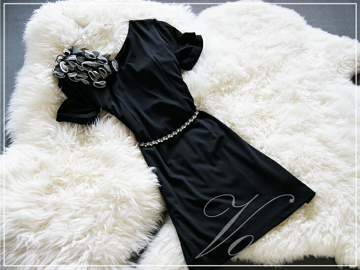 Celebrity-like / one piece / wedding ceremony / second party / dress / black